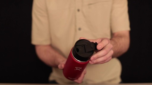 HYDRO FLASK Wide-Mouth Water Bottle with Hydro Flip Lid, 18 oz.  - image 3 from the video