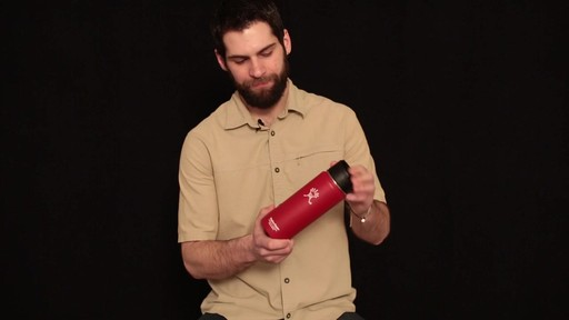 HYDRO FLASK Wide-Mouth Water Bottle with Hydro Flip Lid, 18 oz.  - image 4 from the video
