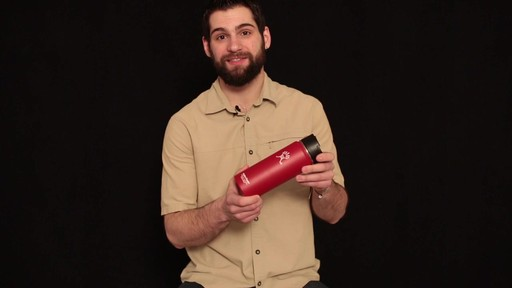 HYDRO FLASK Wide-Mouth Water Bottle with Hydro Flip Lid, 18 oz.  - image 5 from the video