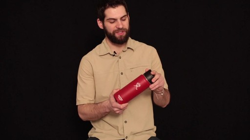 HYDRO FLASK Wide-Mouth Water Bottle with Hydro Flip Lid, 18 oz.  - image 6 from the video