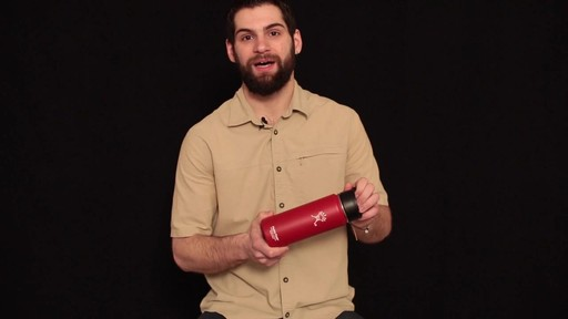 HYDRO FLASK Wide-Mouth Water Bottle with Hydro Flip Lid, 18 oz.  - image 7 from the video