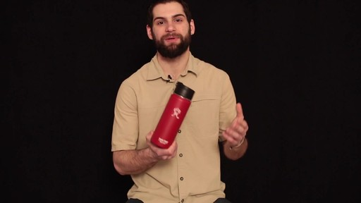 HYDRO FLASK Wide-Mouth Water Bottle with Hydro Flip Lid, 18 oz.  - image 8 from the video