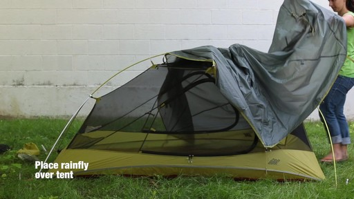 How to set up the EMS Velocity 2 Tent: Eastern Mountain Sports - image 7 from the video
