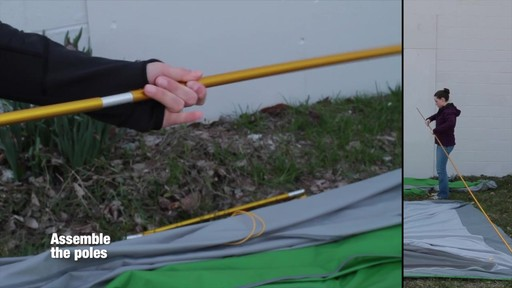 How to set up the EMS Big Easy 6 Tent: Eastern Mountain Sports - image 2 from the video