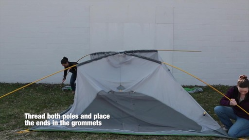 How to set up the EMS Big Easy 6 Tent: Eastern Mountain Sports - image 3 from the video