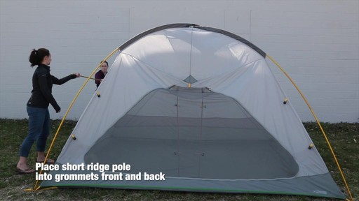 How to set up the EMS Big Easy 6 Tent: Eastern Mountain Sports - image 4 from the video