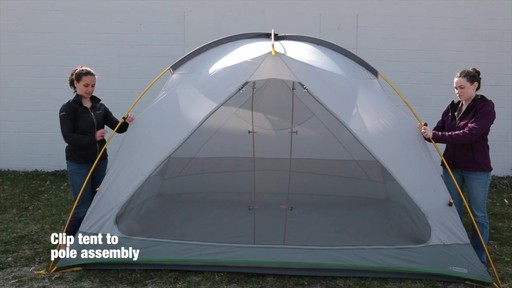 How to set up the EMS Big Easy 6 Tent: Eastern Mountain Sports - image 5 from the video