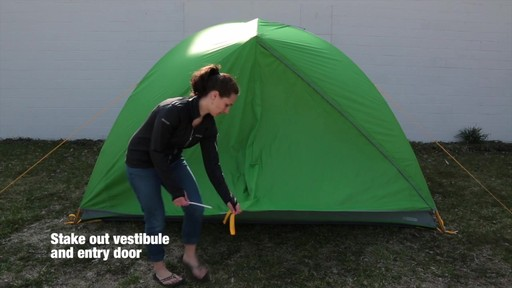 How to set up the EMS Big Easy 6 Tent: Eastern Mountain Sports - image 8 from the video