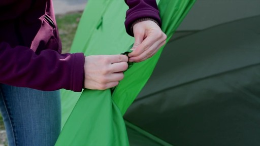 How to set up the EMS Big Easy 6 Tent: Eastern Mountain Sports - image 9 from the video