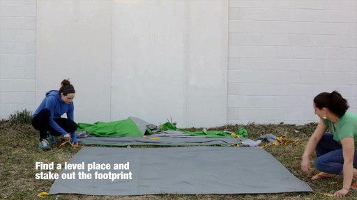 How to set up the EMS Big Easy 4 Tent: Eastern Mountain Sports - image 1 from the video