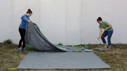 How to set up the EMS Big Easy 4 Tent: Eastern Mountain Sports - image 2 from the video