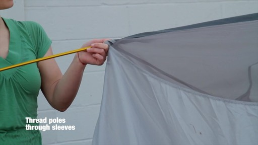 How to set up the EMS Big Easy 4 Tent: Eastern Mountain Sports - image 3 from the video