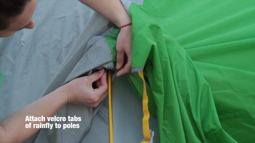How to set up the EMS Big Easy 4 Tent: Eastern Mountain Sports - image 6 from the video