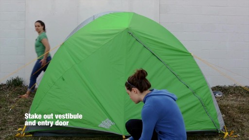 How to set up the EMS Big Easy 4 Tent: Eastern Mountain Sports - image 8 from the video