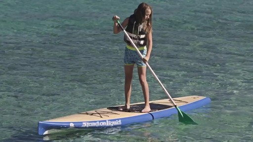 AQUABOUND Spark 2-Piece Adjustable Stand Up Paddle - image 9 from the video