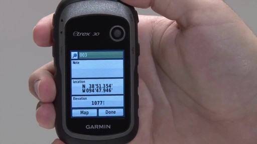 GARMIN eTrex 10|20|30 - Waypoints - image 5 from the video
