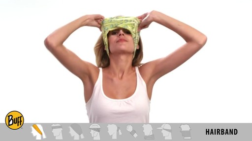 How to wear a UV Half or UV Headband Buff - image 3 from the video