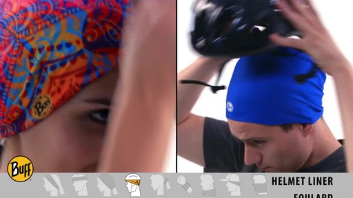 How to wear a UV Half or UV Headband Buff - image 7 from the video
