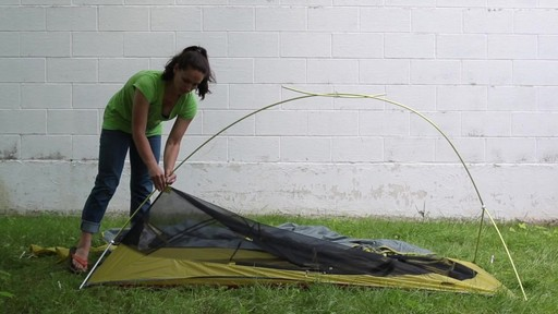 How to set up the EMS Velocity 1 Tent: Eastern Mountain Sports - image 6 from the video