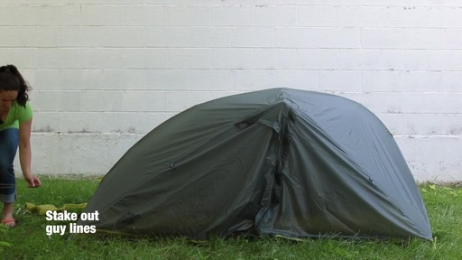How to set up the EMS Velocity 1 Tent: Eastern Mountain Sports - image 9 from the video