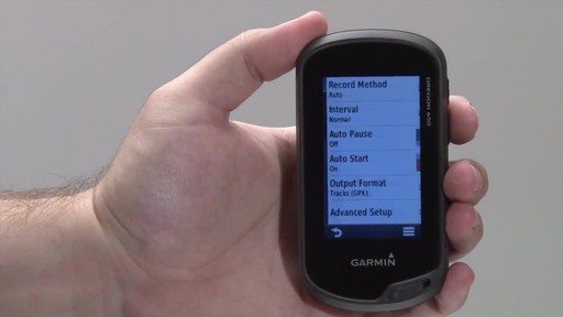 GARMIN Oregon 600 & 650 - Tracks - image 6 from the video