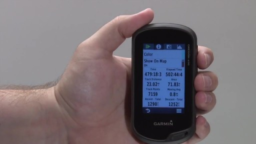 GARMIN Oregon 600 & 650 - Tracks - image 8 from the video