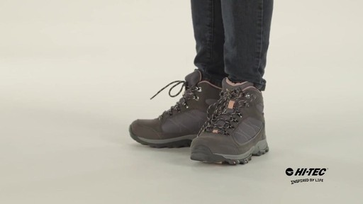 HI-TEC Oregon II Mid Waterproof Hiking Boots - image 8 from the video