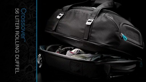 THULE Crossover 56 L Rolling Duffel - image 7 from the video