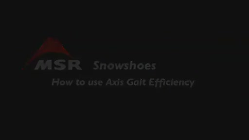 MSR Lightning Axis 25 Snowshoe - image 8 from the video