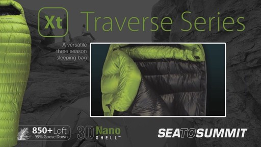 SEA TO SUMMIT Traverse II 12° Sleeping Bag - image 3 from the video