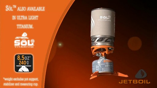JETBOIL Sol Ti Advanced Cooking System - image 8 from the video
