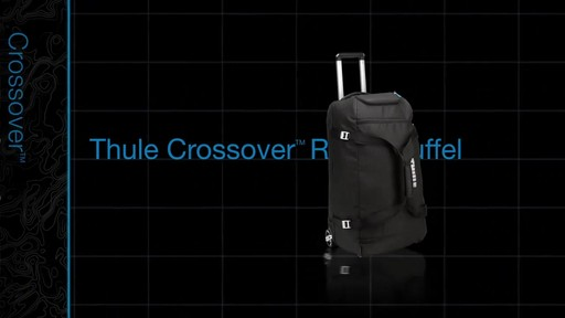 THULE Crossover 87 L Rolling Duffel - image 1 from the video