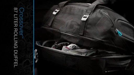 THULE Crossover 87 L Rolling Duffel - image 6 from the video