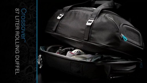 THULE Crossover 87 L Rolling Duffel - image 7 from the video