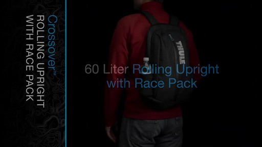 THULE Crossover 60 L Rolling Upright with Daypack - image 2 from the video