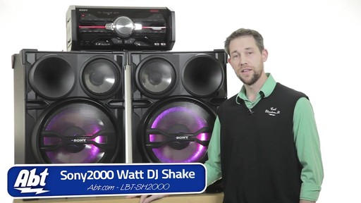 Review of the Sony Black 2000 Watt DJ Shake Sound System - LBT-SH2000 - image 10 from the video