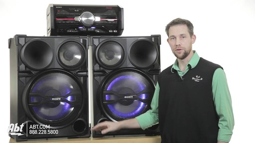 Review of the Sony Black 2000 Watt DJ Shake Sound System - LBT-SH2000 - image 3 from the video