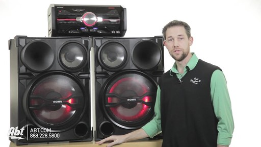 Review of the Sony Black 2000 Watt DJ Shake Sound System - LBT-SH2000 - image 5 from the video