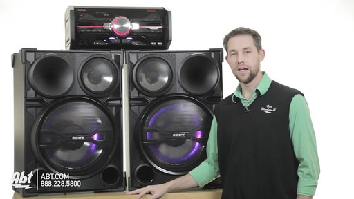 Review of the Sony Black 2000 Watt DJ Shake Sound System - LBT-SH2000 - image 9 from the video