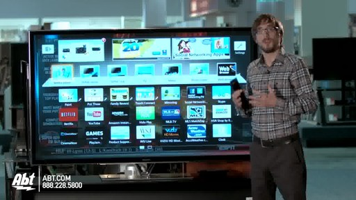 Panasonic 65-inch 1080P 3D Plasma HDTV - TC-P65ZT60 : Panasonic at Abt Electronics - image 9 from the video