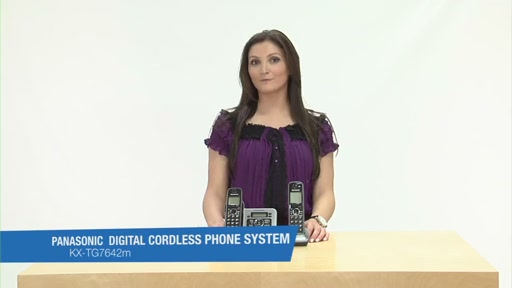 Review of Panasonic Black Link-To-Cell Bluetooth Digital Cordless Phone System - KX-TG7642M - image 10 from the video