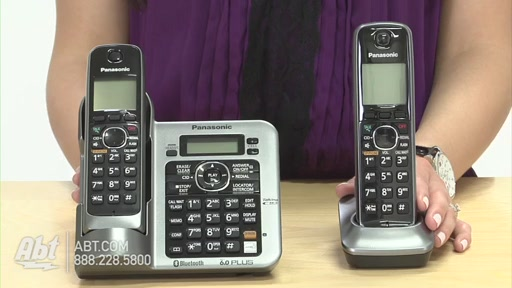 Review of Panasonic Black Link-To-Cell Bluetooth Digital Cordless Phone System - KX-TG7642M - image 2 from the video