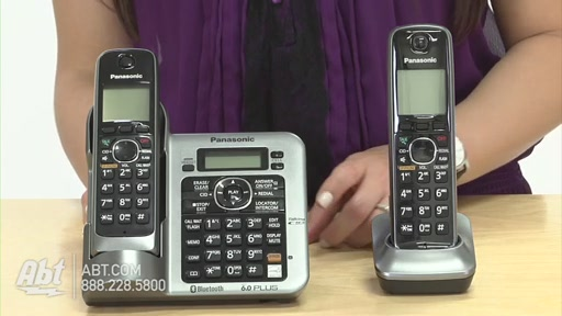 Review of Panasonic Black Link-To-Cell Bluetooth Digital Cordless Phone System - KX-TG7642M - image 3 from the video