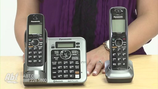 Review of Panasonic Black Link-To-Cell Bluetooth Digital Cordless Phone System - KX-TG7642M - image 4 from the video