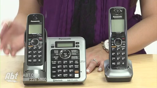Review of Panasonic Black Link-To-Cell Bluetooth Digital Cordless Phone System - KX-TG7642M - image 6 from the video
