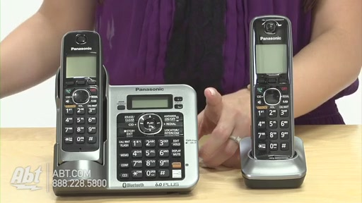 Review of Panasonic Black Link-To-Cell Bluetooth Digital Cordless Phone System - KX-TG7642M - image 8 from the video
