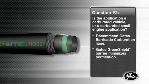 Gates - Barricade Fuel Hose - image 7 from the video