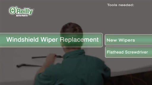 O'Reilly Auto Parts Wiper Blade Replacement - image 1 from the video