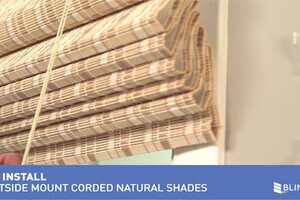 How To Install Bali Natural Woven Wood Shades With Cord
