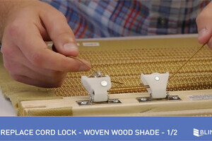 How To Replace A Cord Lock On A Woven Wood Shade 1 Of 2